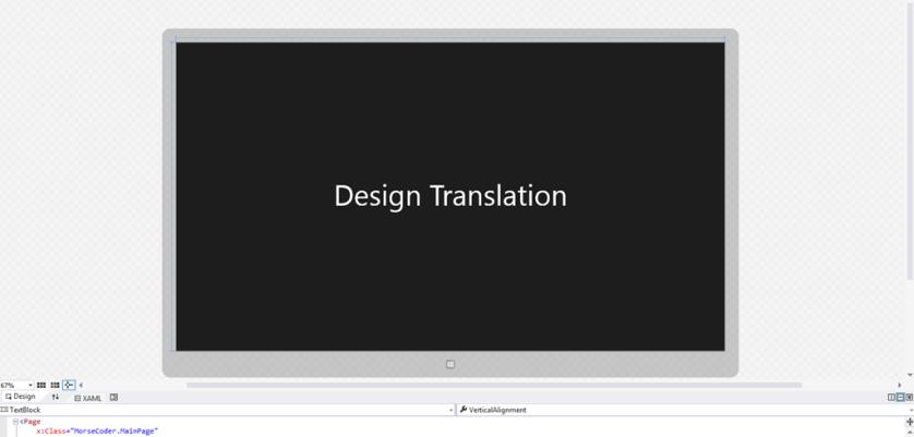 """Design Time ViewModel showing """"Design Translation"""""""