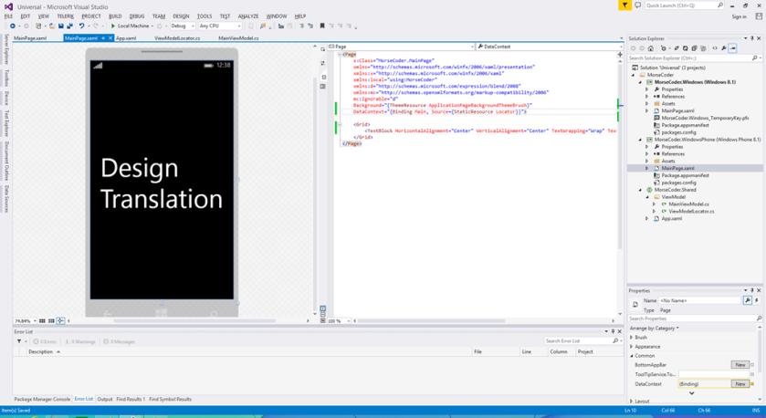 Windows Phone Data Context