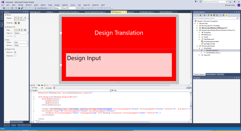 Design Time Input Red Background