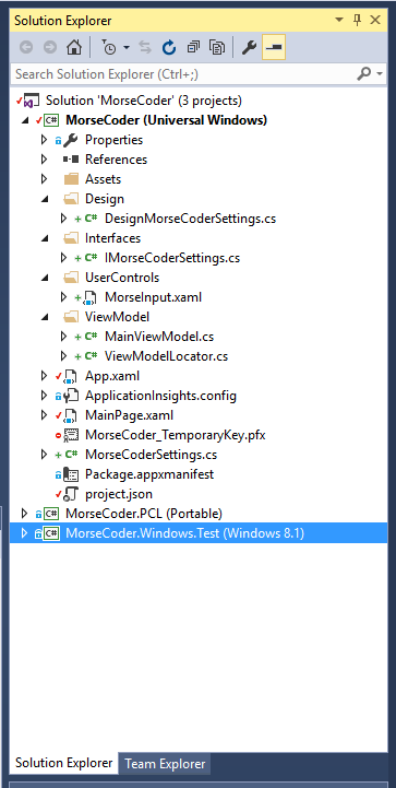 Clean Windows 10 Universal Project Structure