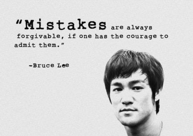 Mistakes are forgivable